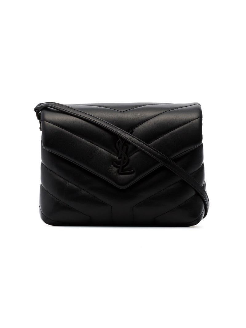 Lyst - Saint Laurent Black Toy Loulou Quilted Cross Body Bag in Black 684afc64072fb