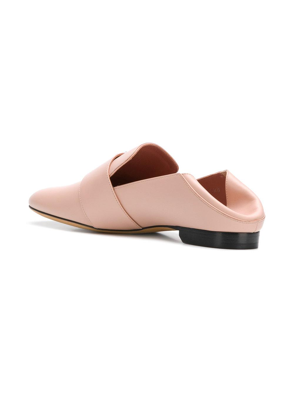 Bally side brooch embellished slippers - Pink & Purple