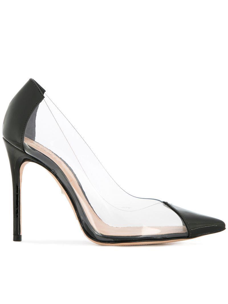 da992a9be05 Lyst - Schutz Pointed Toe Stiletto Heel in Black