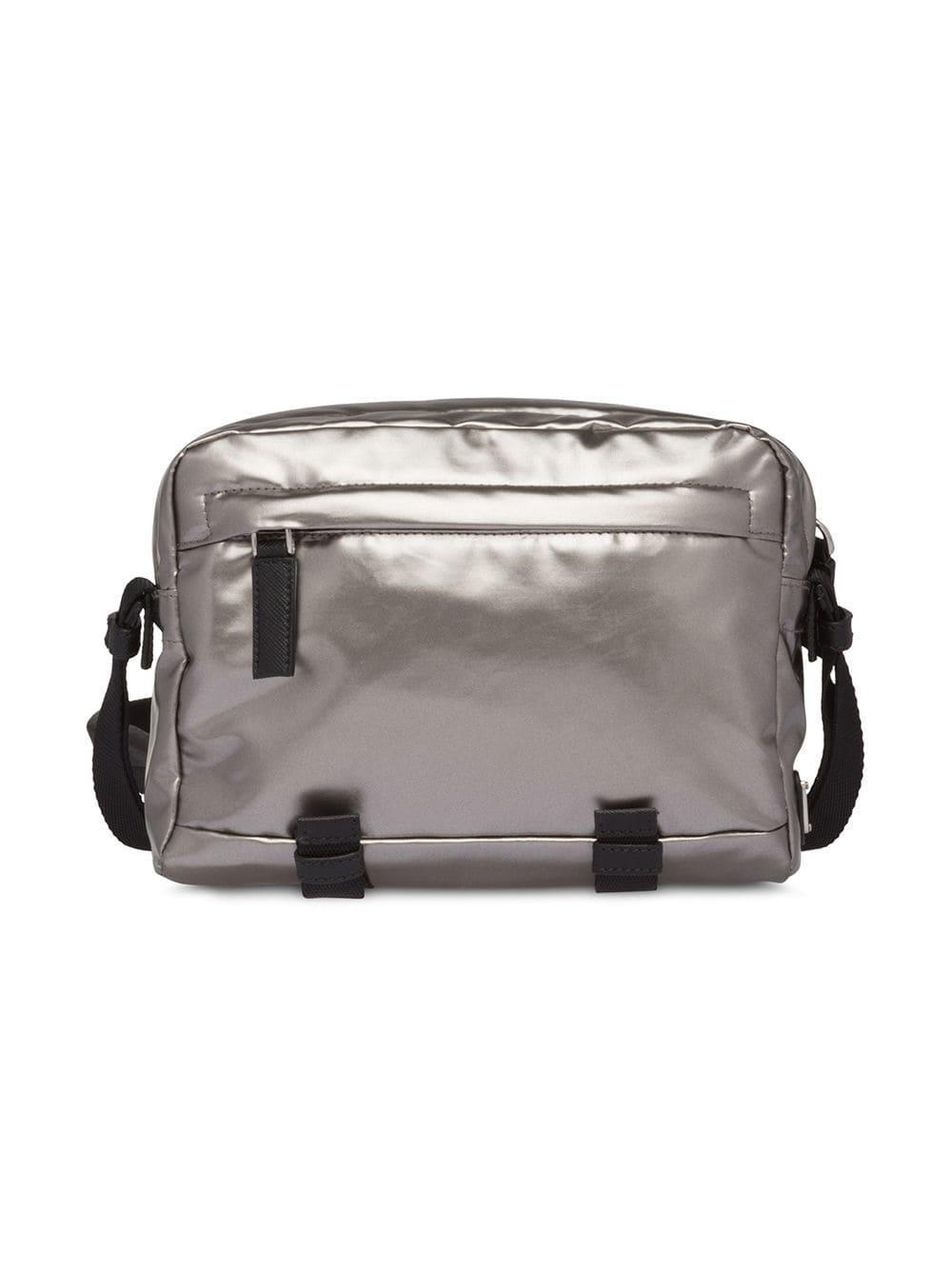 5e7b806b8337c5 Prada Technical Fabric Messenger Bag in Metallic for Men - Save 24% - Lyst