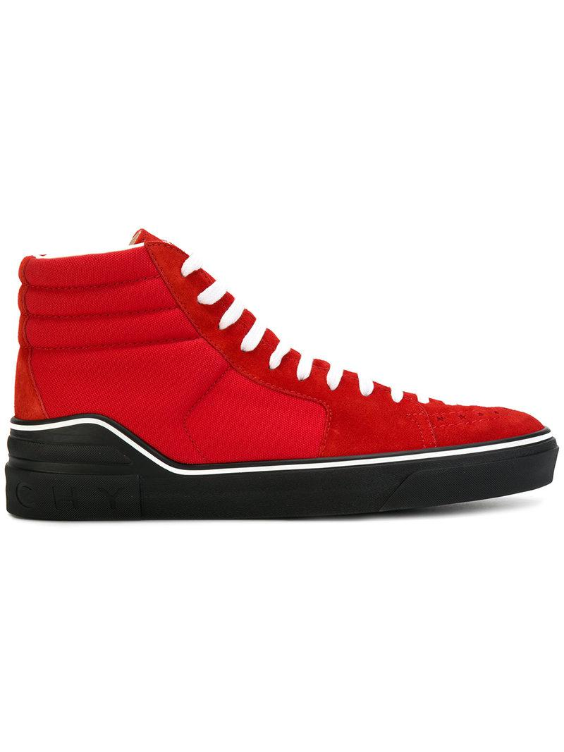 contrast panel hi-top sneakers - Red Givenchy 2018 Discount me2ht