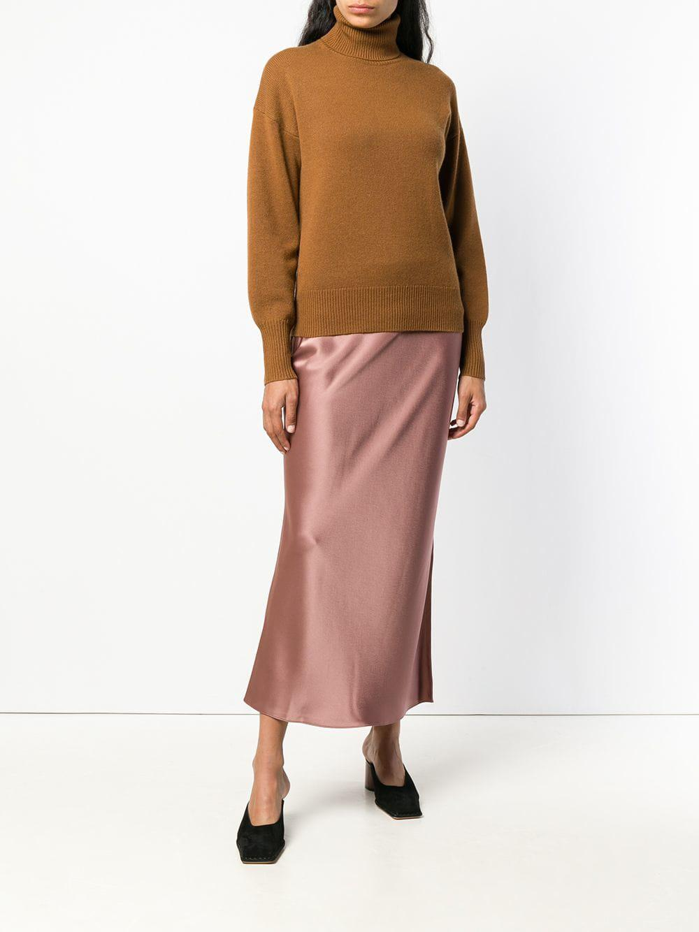 86817eb6ac9c2 Lyst - Theory Cashmere Turtleneck Sweater in Brown