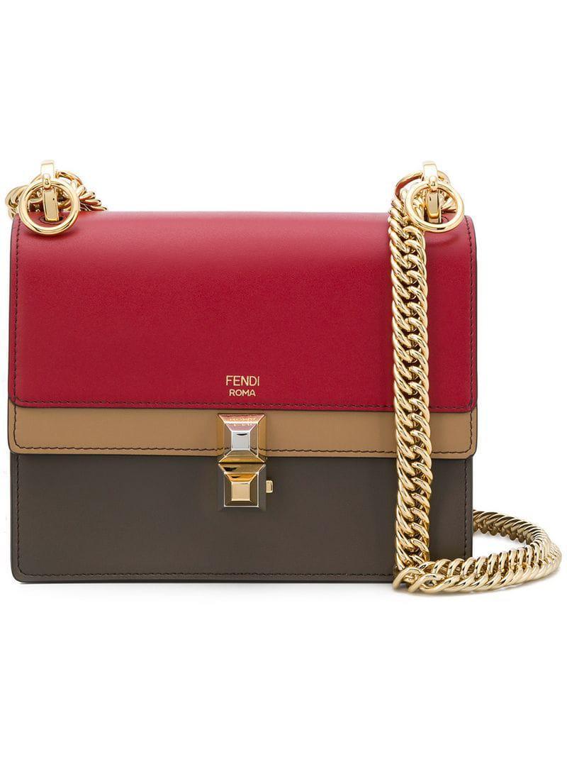 f26e88086041 Fendi Kan I Small Shoulder Bag in Red - Lyst
