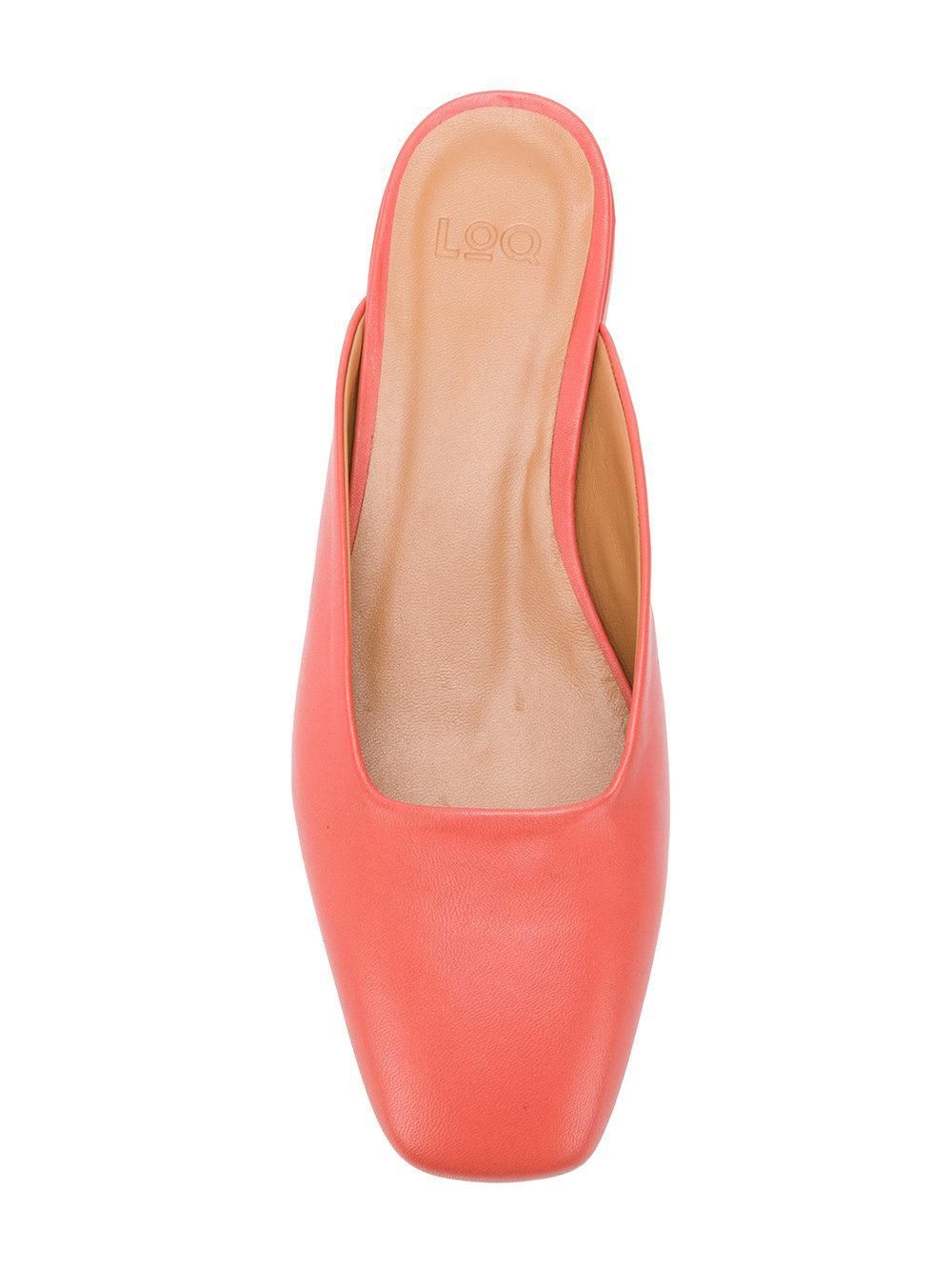 square toe mule - Pink & Purple LOQ e6tpSLEYC