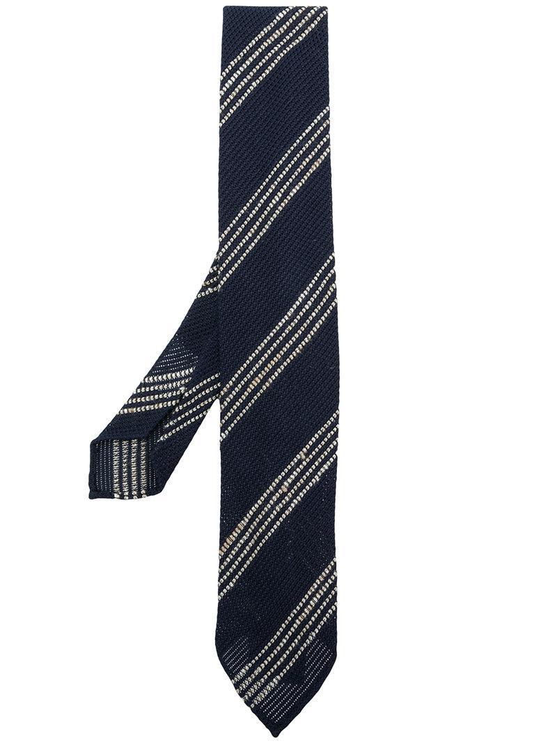 embroidered floral tie - Blue Lardini PFuid
