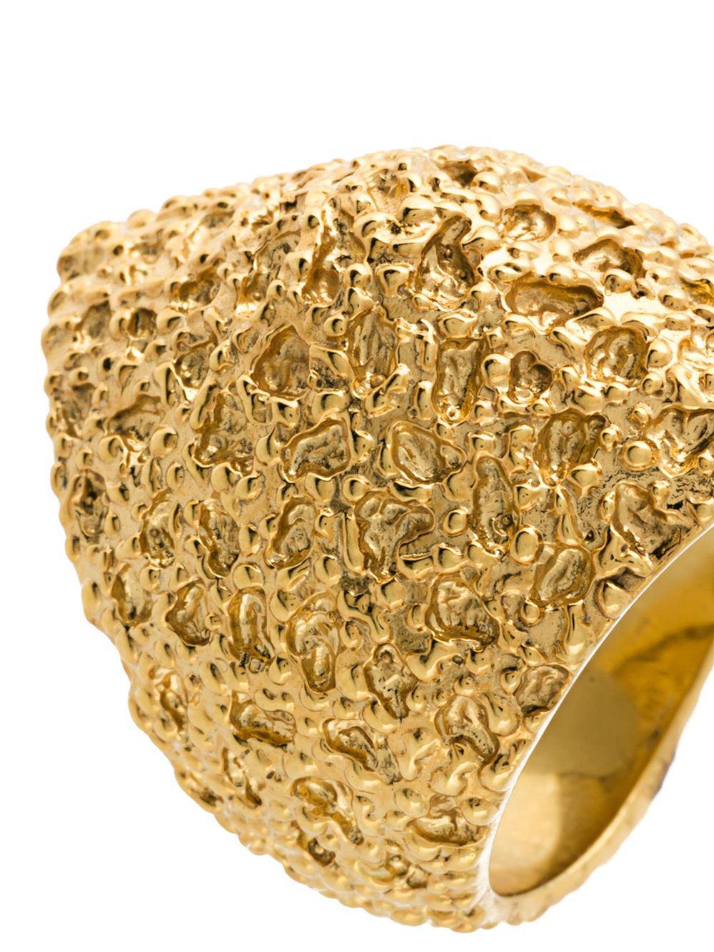 Maison Recuerdo Water Drops sovereign ring - Metallic L6sTNiCUs