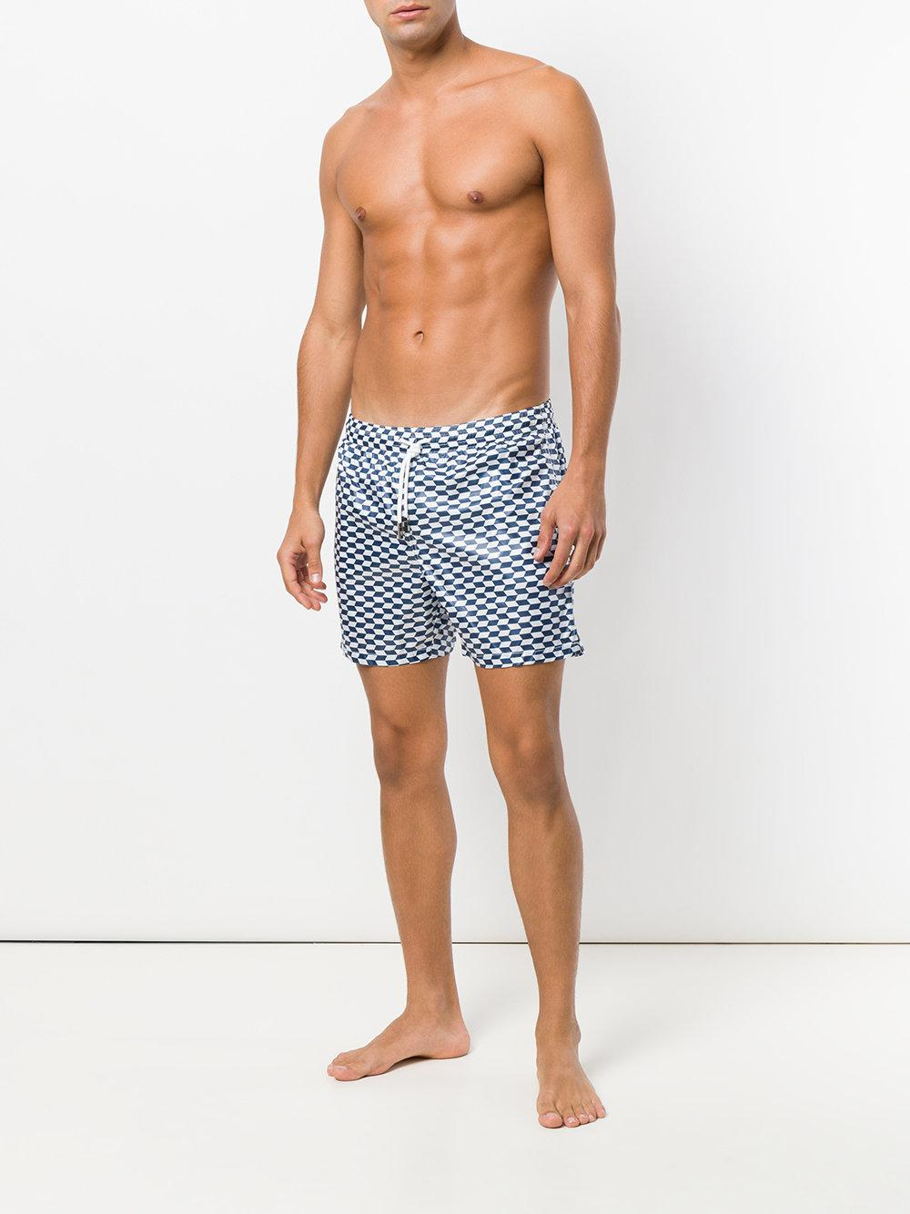 Discount Supply geometric print swim shorts - Blue Eleventy Visit Cheap Online bKskWIGD8