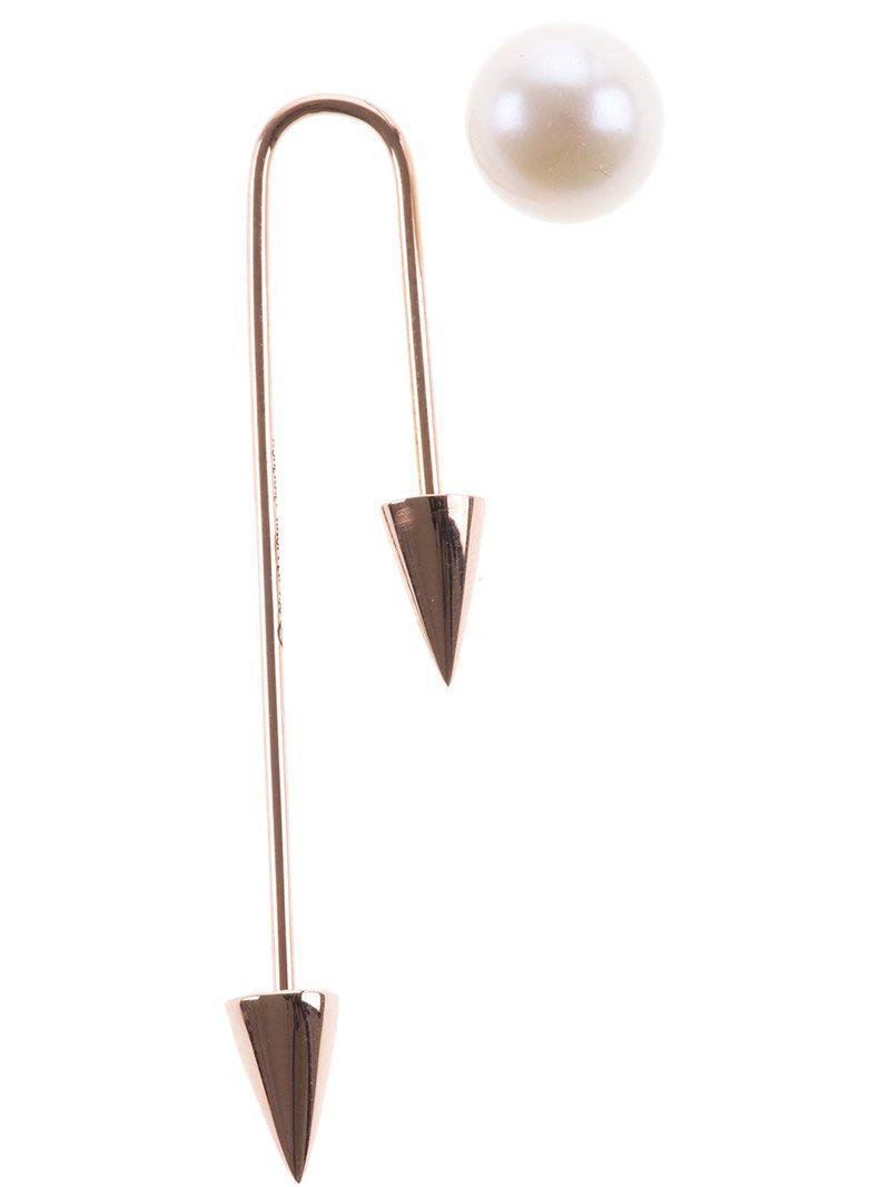 Asherali Knopfer 18k Rose Gold Mix and Match 2 spike earring - Metallic tLRvhCFcR7