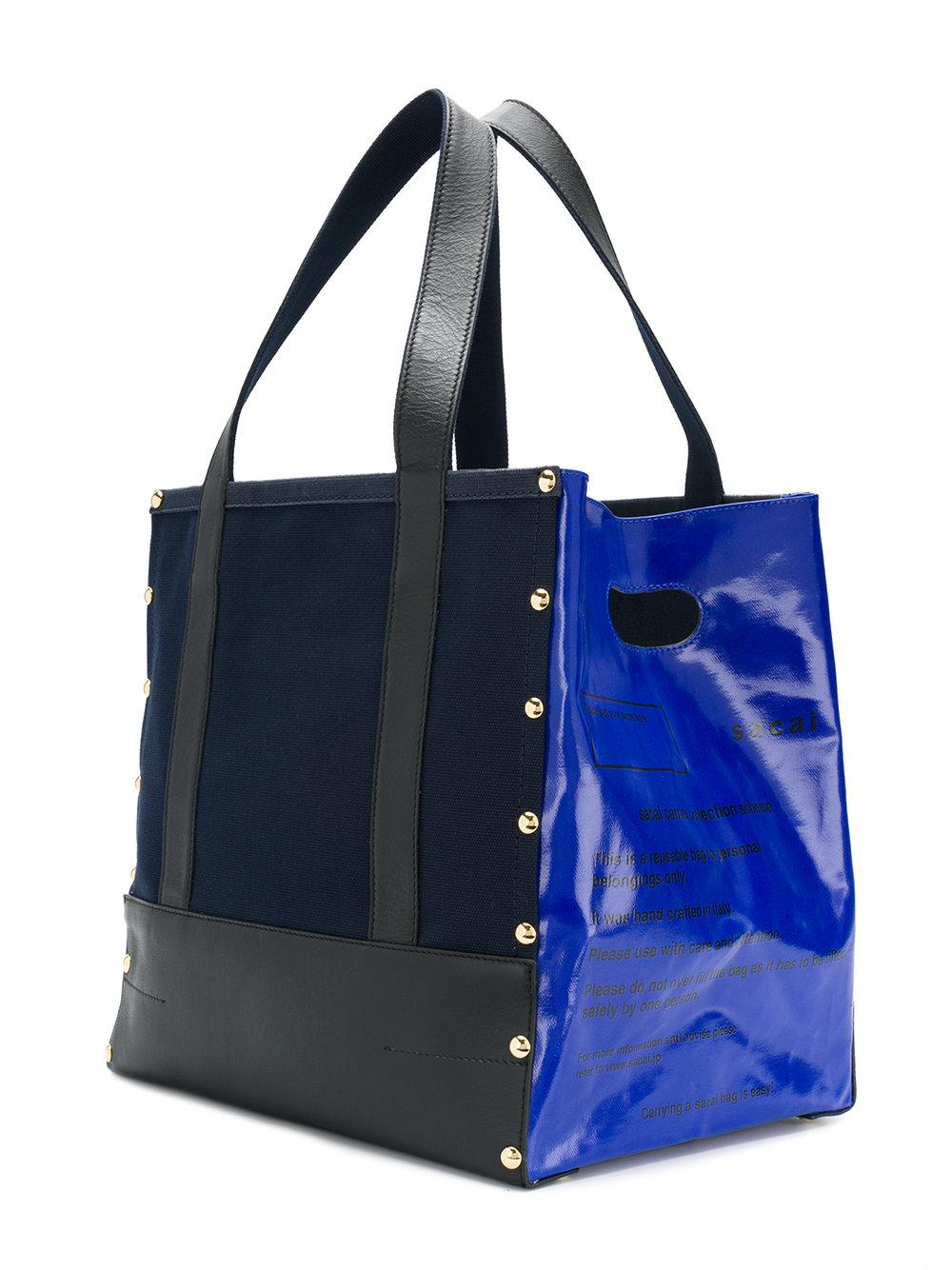 90f78a5b8c Sacai Panelled Tote Bag Bag Sacai Bag Tote Sacai Panelled Tote Panelled  Panelled Sacai Tote XTZxII