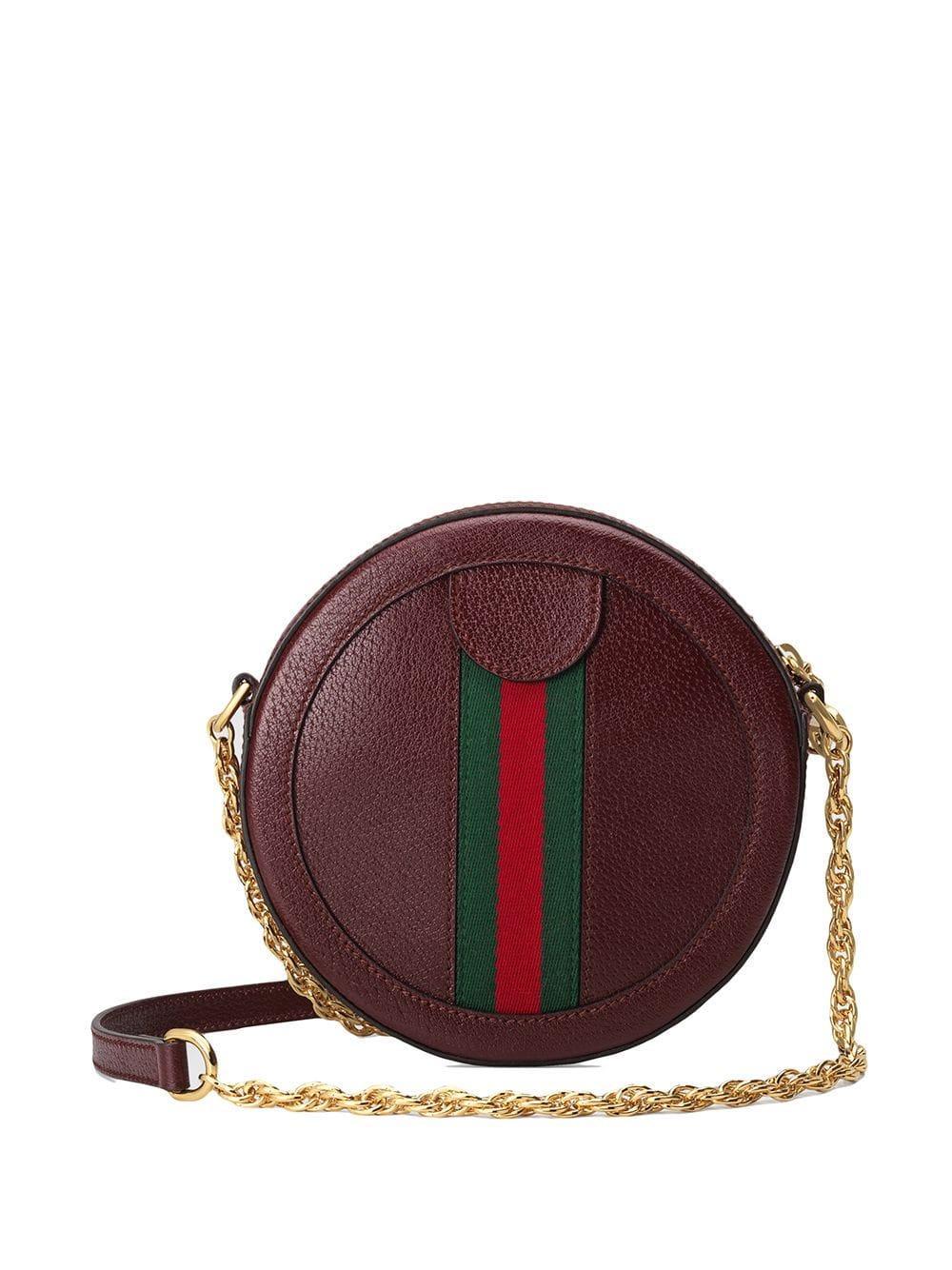 0c394050de1e Lyst - Gucci Ophidia Mini Round Shoulder Bag in Red