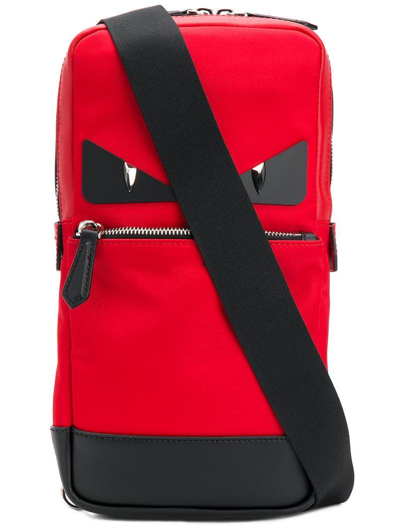 de5778ebb7ae Lyst - Fendi Bag Bugs Crossbody Backpack in Red for Men