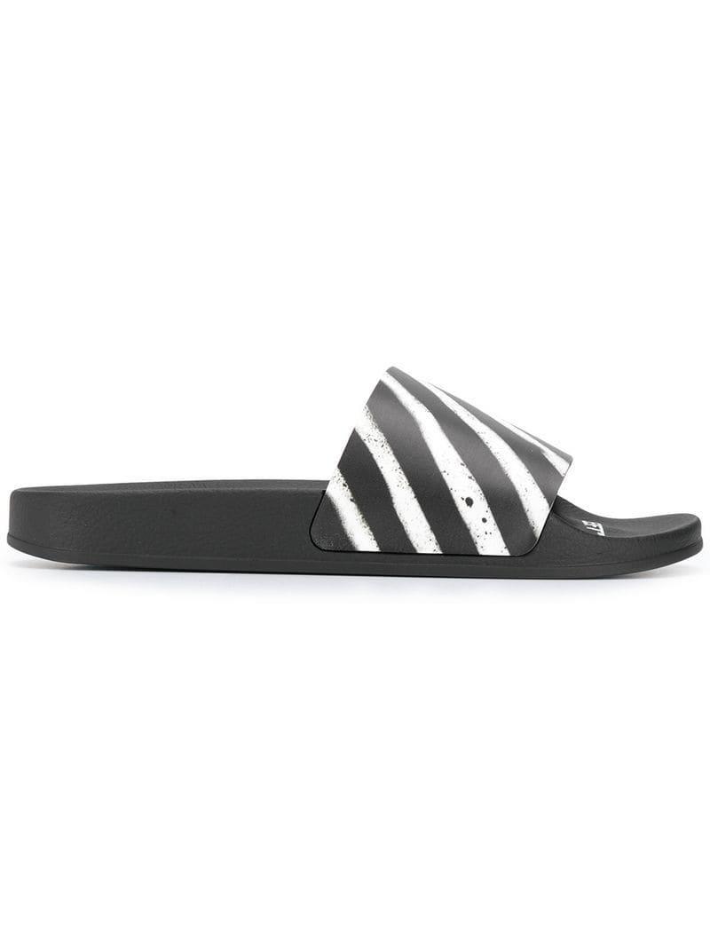 4058e0878600 Lyst - Off-White c o Virgil Abloh  spray Stripes  Slides in Black ...