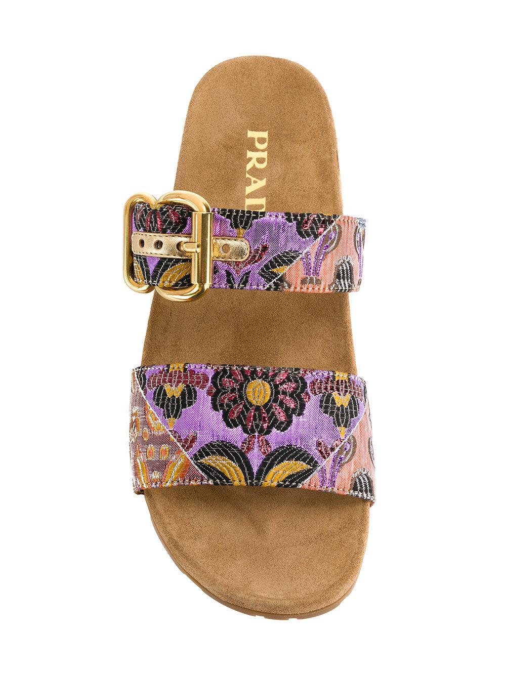 floral jacquard sandals - Multicolour Prada n58u7T