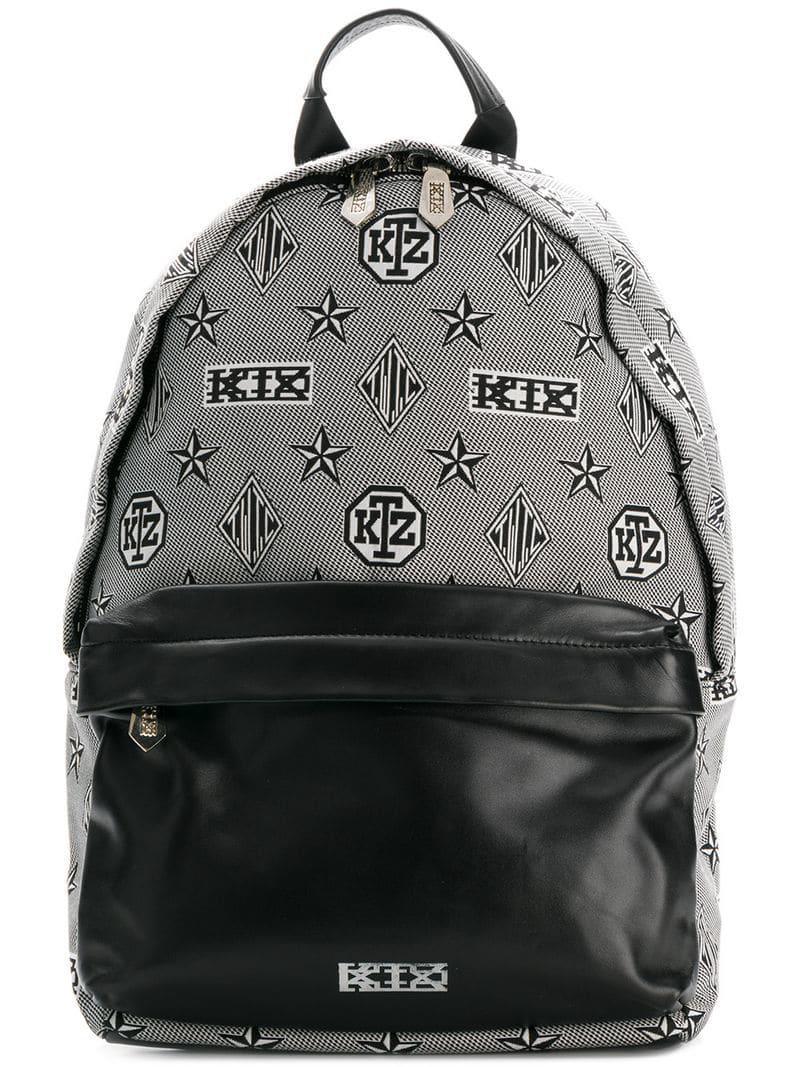 Backpack Printed Ktz Monogram Black In Lyst Pzx1w