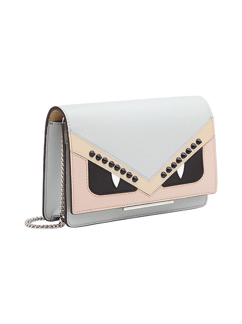 59b794414926 Fendi - Gray Wallet On Chain Mini Bag - Lyst. View fullscreen