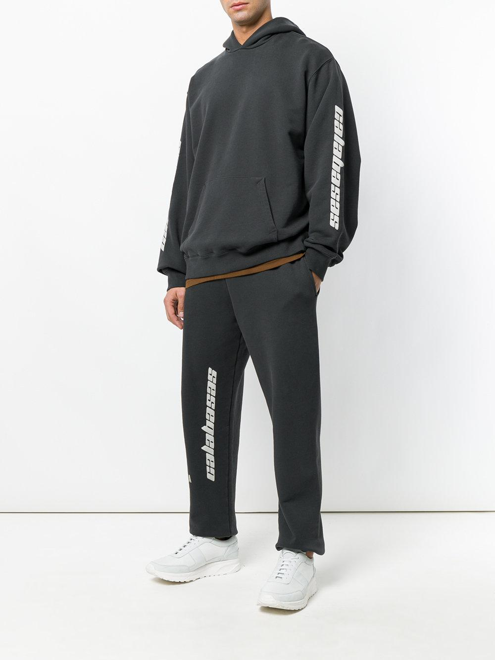 calabasas men Buy yeezy black 'calabasas' sweatpants on ssensecom and get free shipping & returns in us relaxed-fit garment-washed cotton french terry lounge pants in 'ink' black.