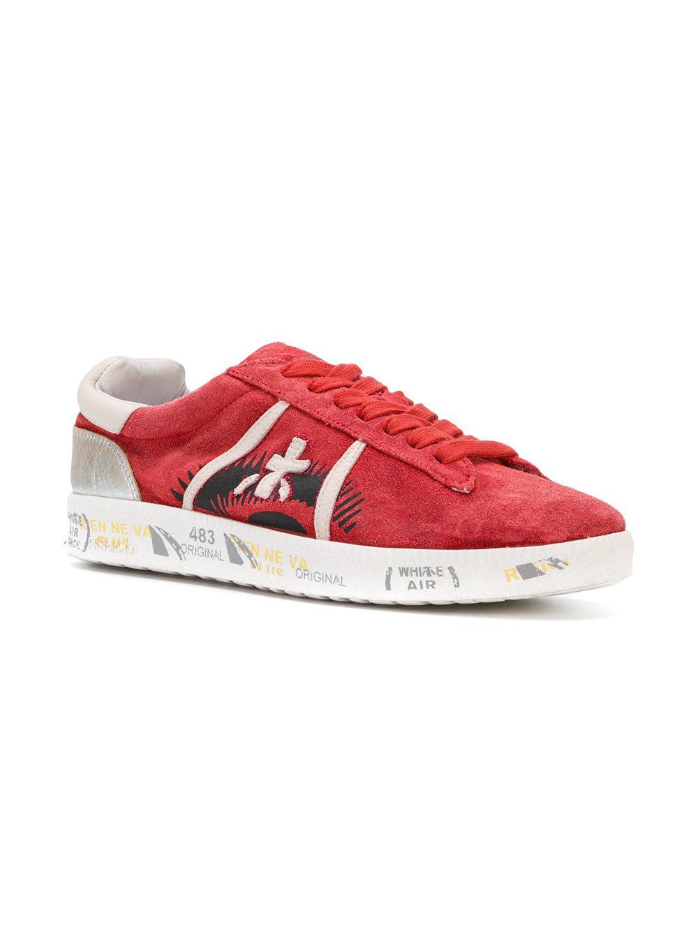 Premiata Ety-d Chaussures De Sport - Rouge MqD5wwUTh