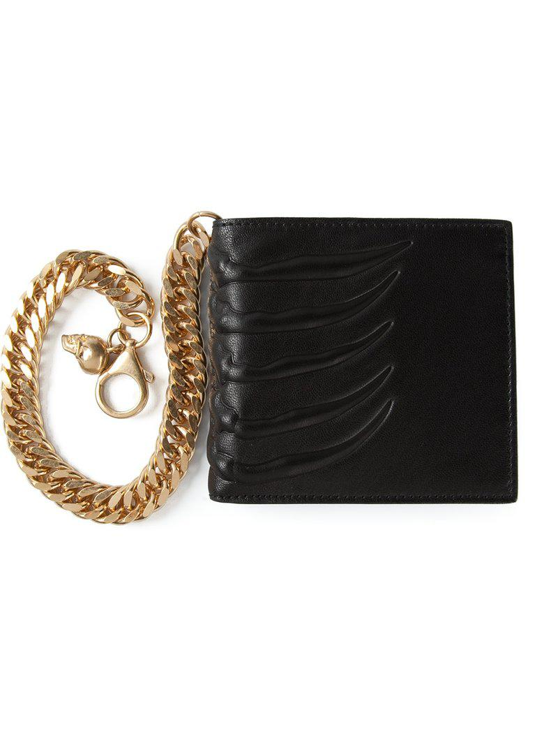 Lyst - Portefeuille à détail de chaîne Alexander McQueen pour homme ... aa65f623100