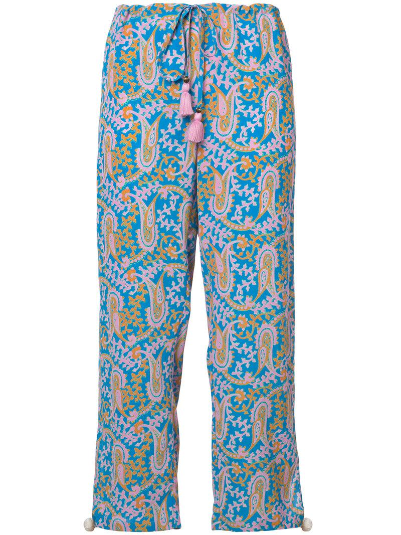 Cheap Sale Official Site paisley print cropped trousers - Blue Figue Countdown Package Cheap Price Sale Shopping Online Free Shipping Countdown Package Cheap Online Store oUDNKv2a