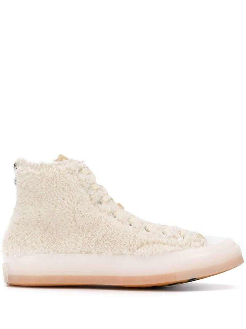 377f3f7972ff Converse Chuck 70 Fleece Hi-top Sneakers in Natural for Men - Lyst