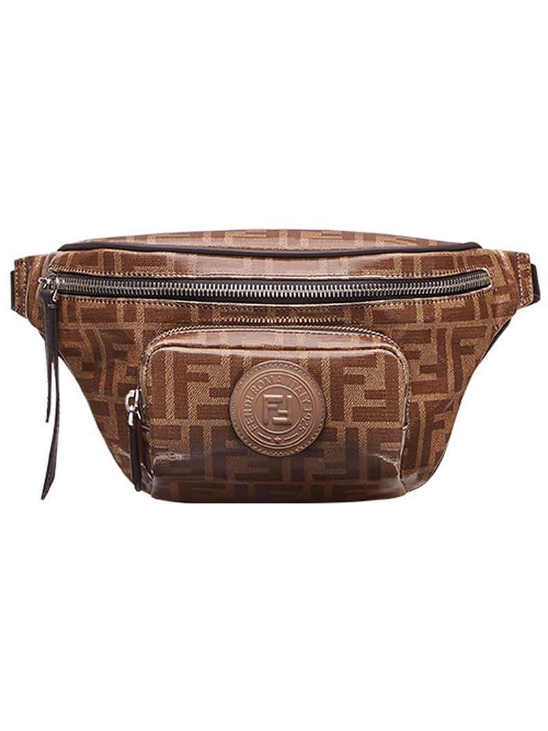 642ce725cbba Lyst - Fendi Logo-print Belt Bag in Brown for Men