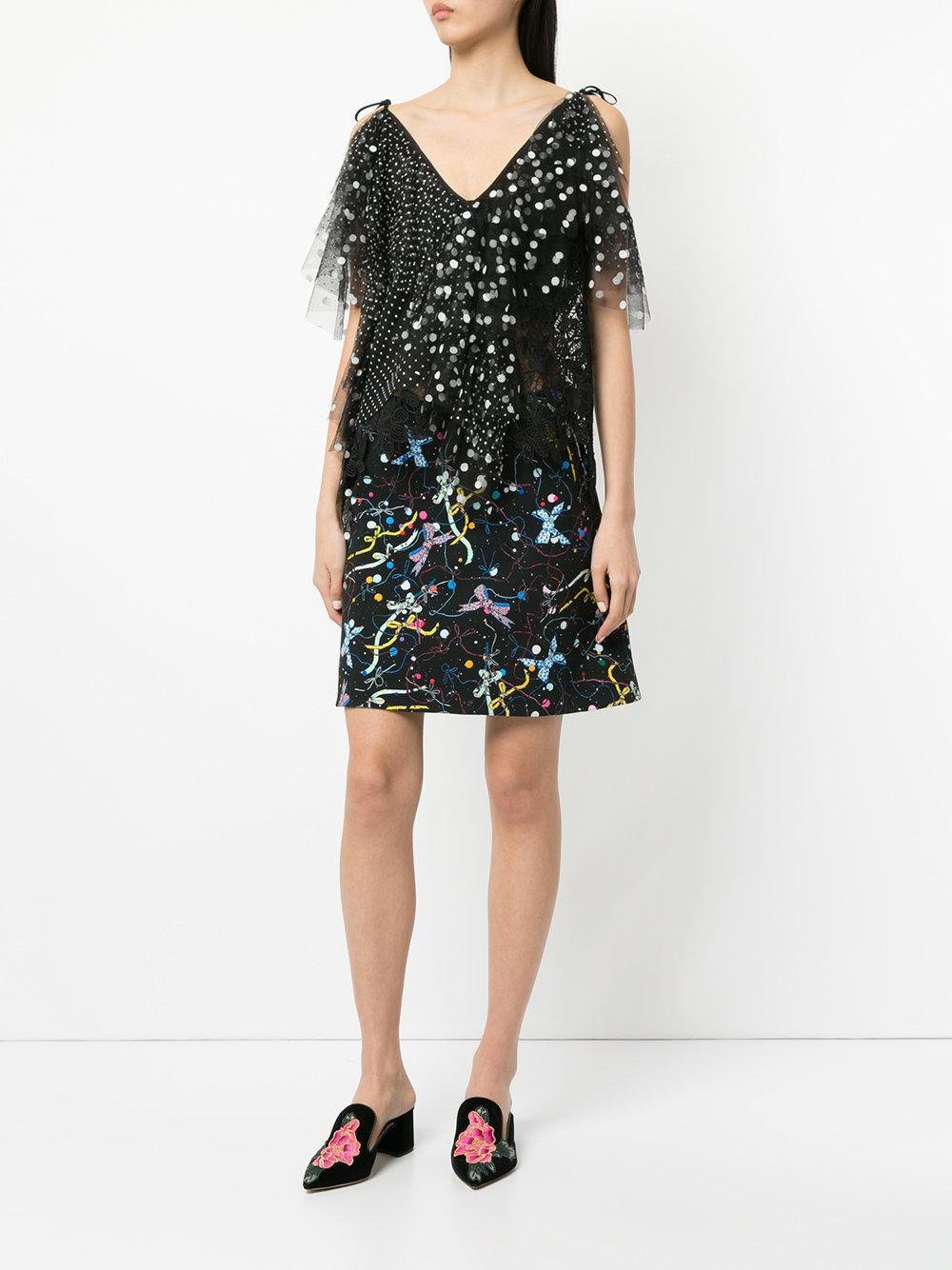 235034268 Romance Was Born Cosmos Bow Skirt in Black - Lyst