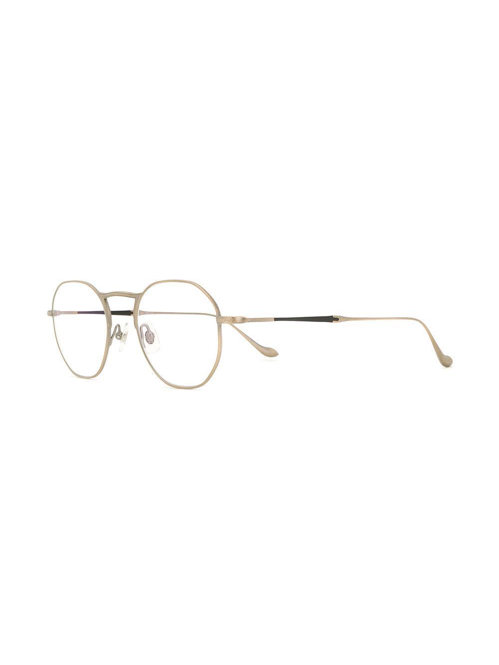 classic round glasses - Metallic Matsuda mxS1HyjCuK