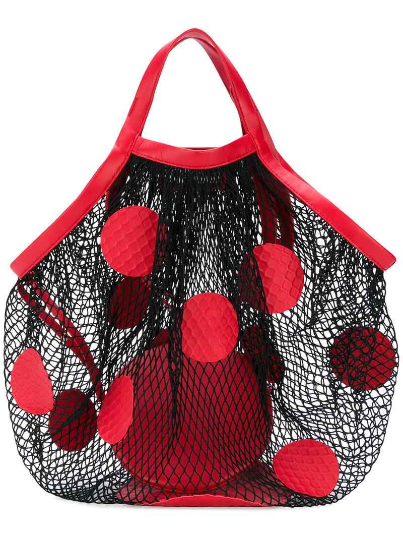 Polka-dot fishnet shoulder bag Maison Martin Margiela CuXjB
