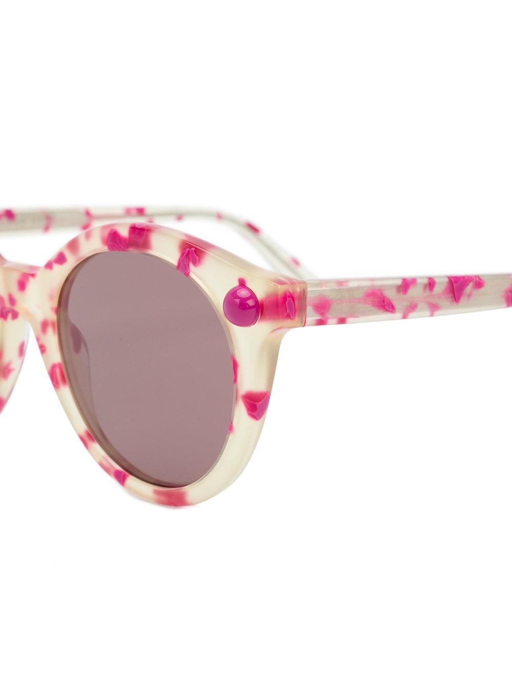 sol montura moteada de Eyewear redonda Gafas Christopher Kane con RpwBqW1F