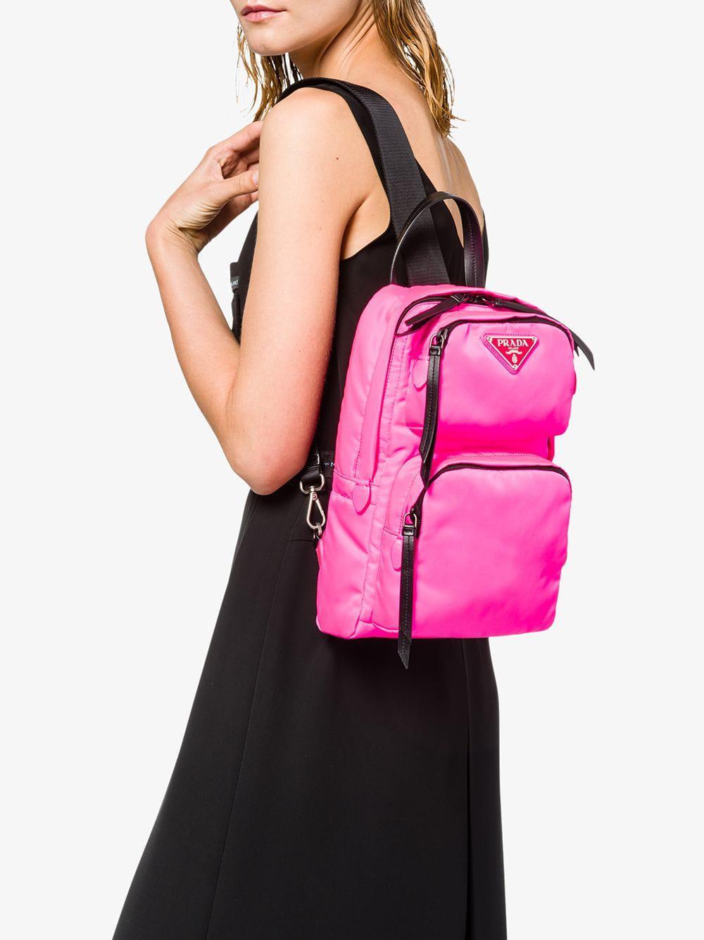 f6b4dac086b3 Prada - Pink One-shoulder Backpack - Lyst. View fullscreen