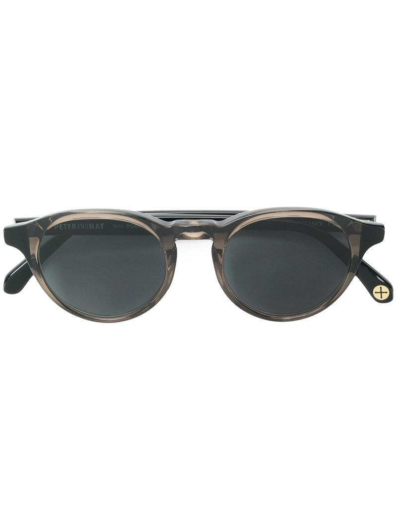 83db2155afc Peter   May Walk Round Frame Sunglasses in Black - Lyst
