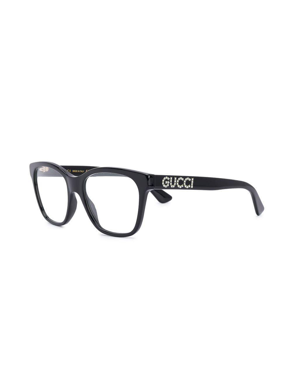 a075e23a6fd Lyst - Gucci Crystal Embellished Glasses in Black