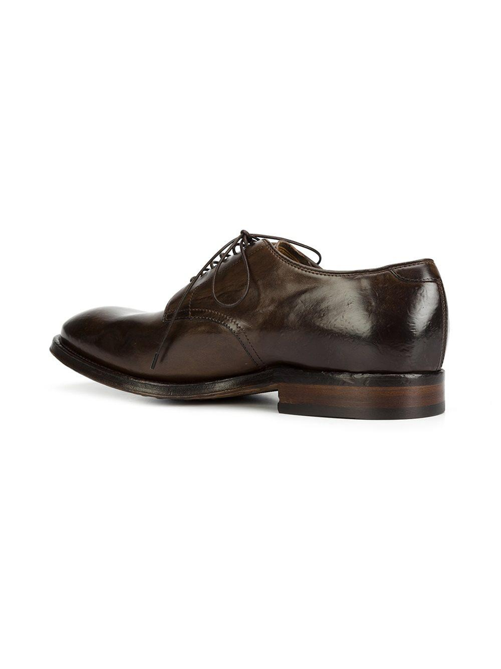Williams Cap-toe Polished-leather Derby Shoes Officine Creative OXrng5