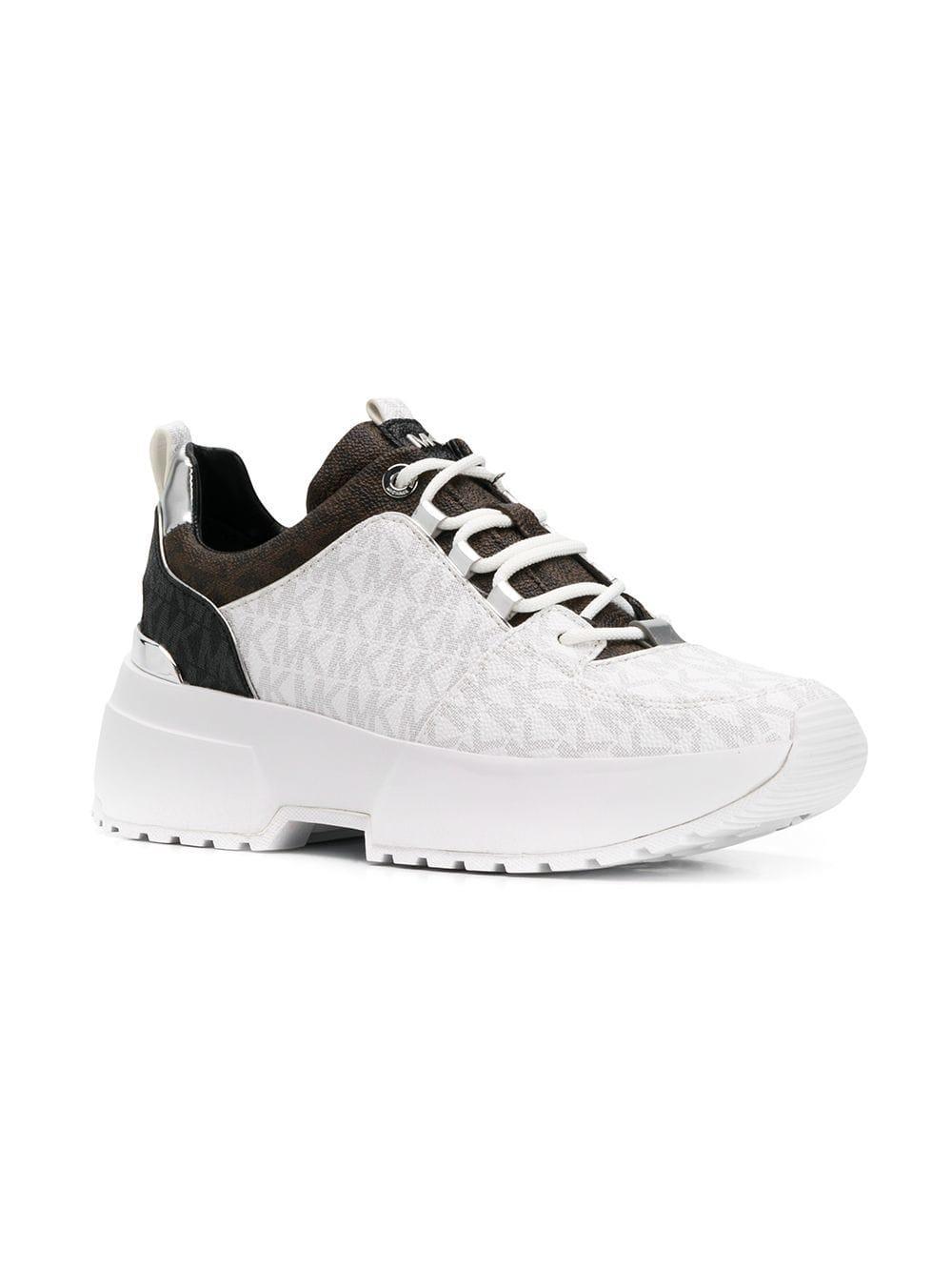 d1ed0a03d8f MICHAEL Michael Kors Monogram Print Sneakers in White - Lyst