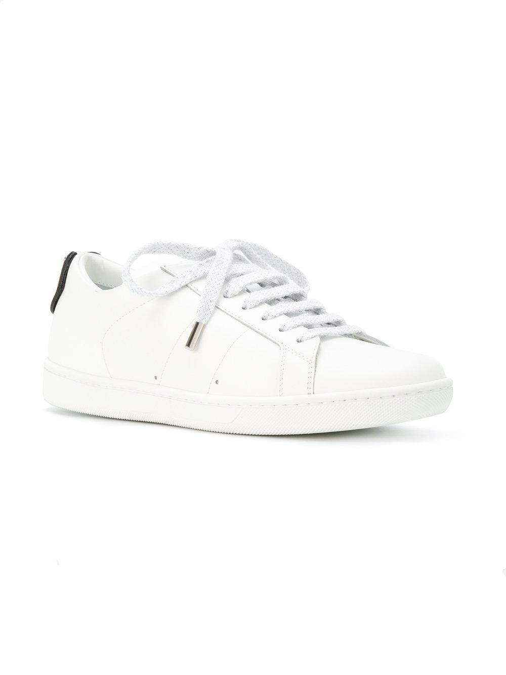Saint Laurent White & Gold Court Classic SL/01 Lips Sneakers dnBCLok