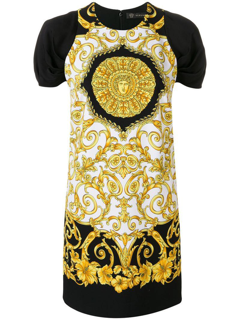 5965ad1e5be9 Lyst - Versace Baroque-print Dress in Black - Save 5%