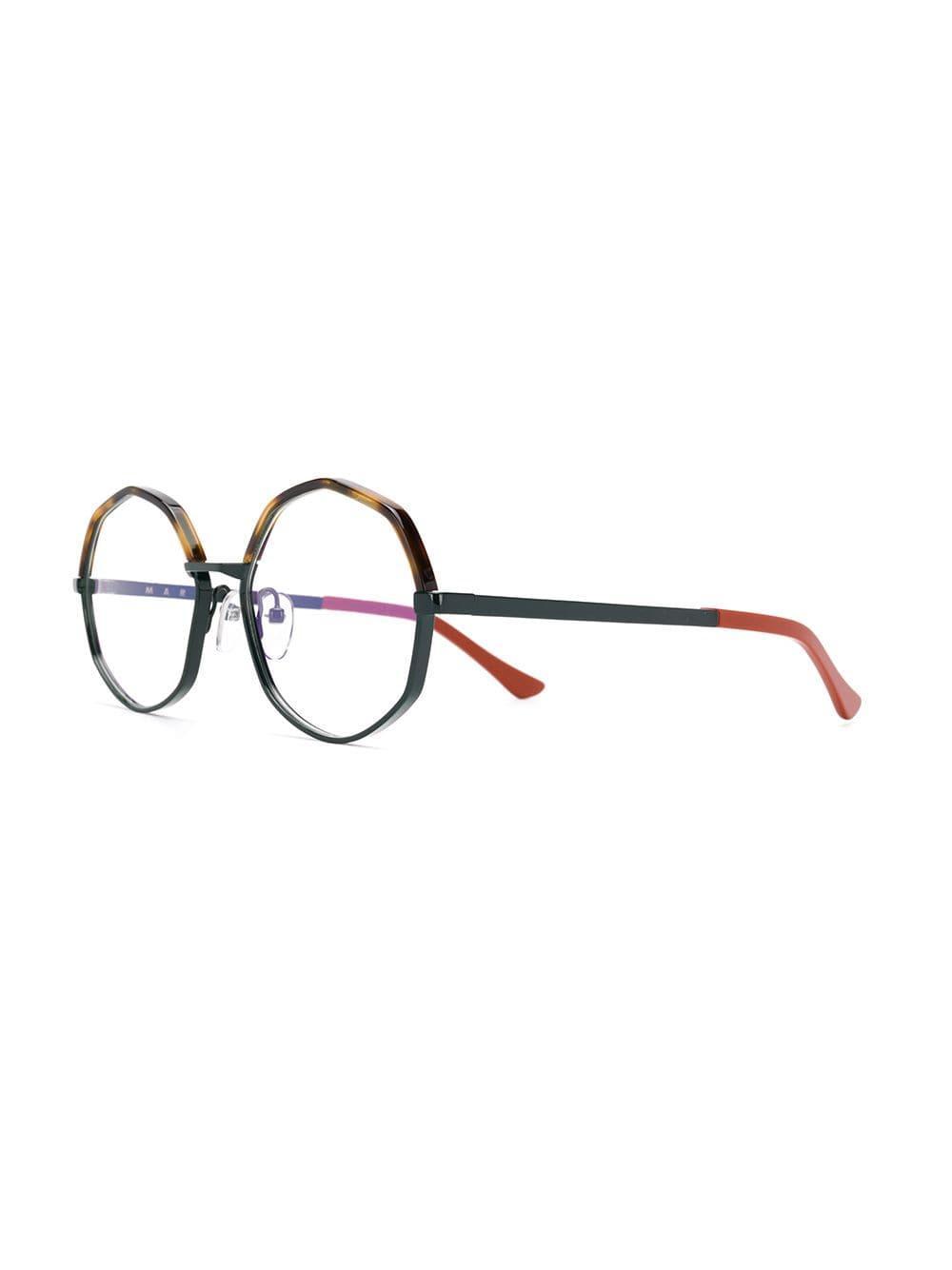 82f2da1a62d Lyst - Marni Eyewear Geometric-frame Glasses in Orange