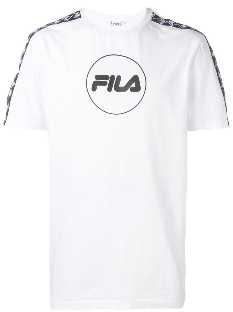830a8945e9c Fila - White Printed Logo T-shirt for Men - Lyst. View fullscreen