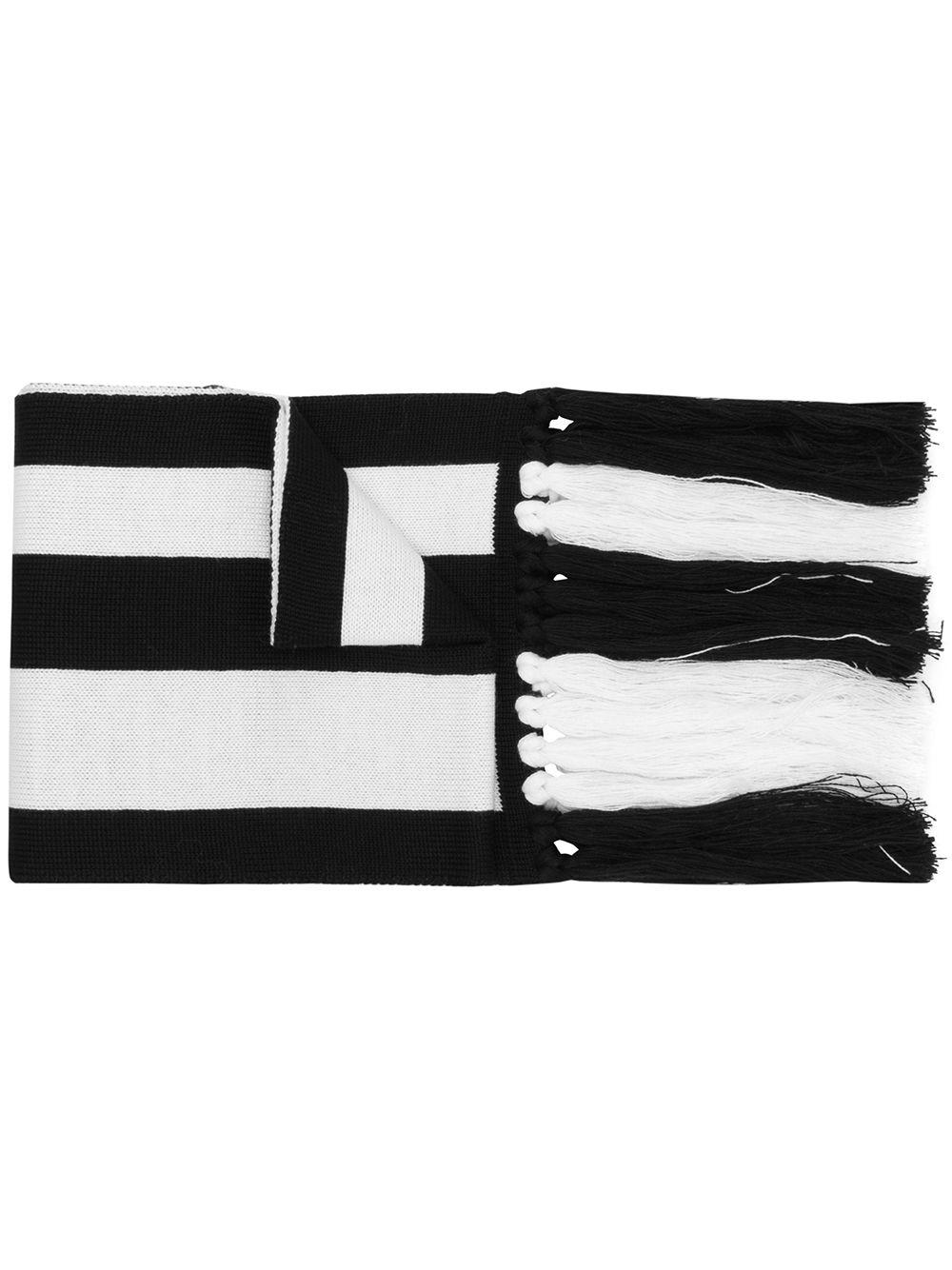 4deaed421216d Gcds - Black Logo Stripe Scarf for Men - Lyst. View fullscreen