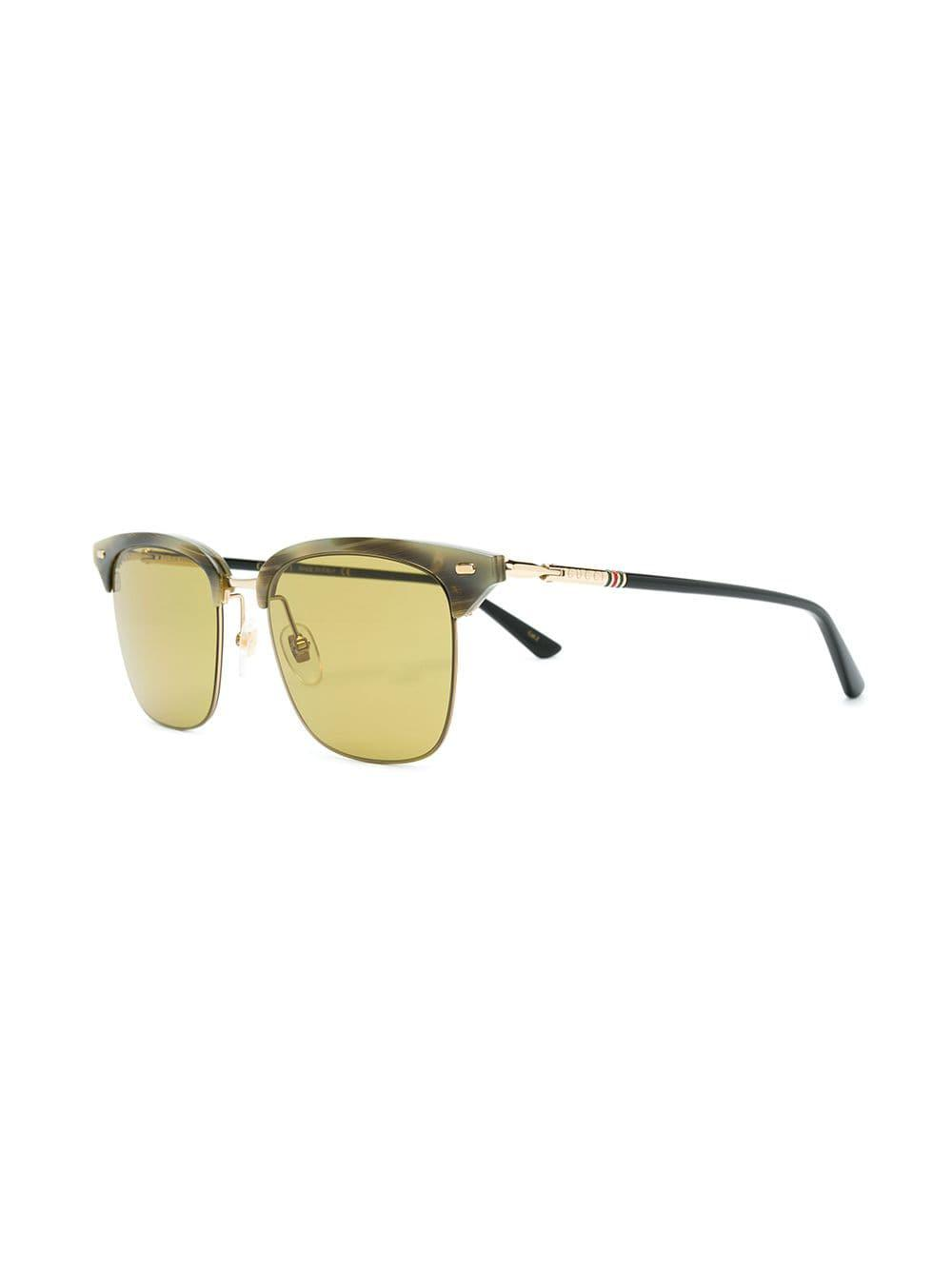f856568d389 Gucci Clubmaster Style Sunglasses in Gray for Men - Lyst