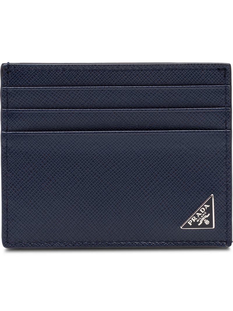89ab6a86a574 Prada - Blue Classic Cardholder for Men - Lyst. View fullscreen