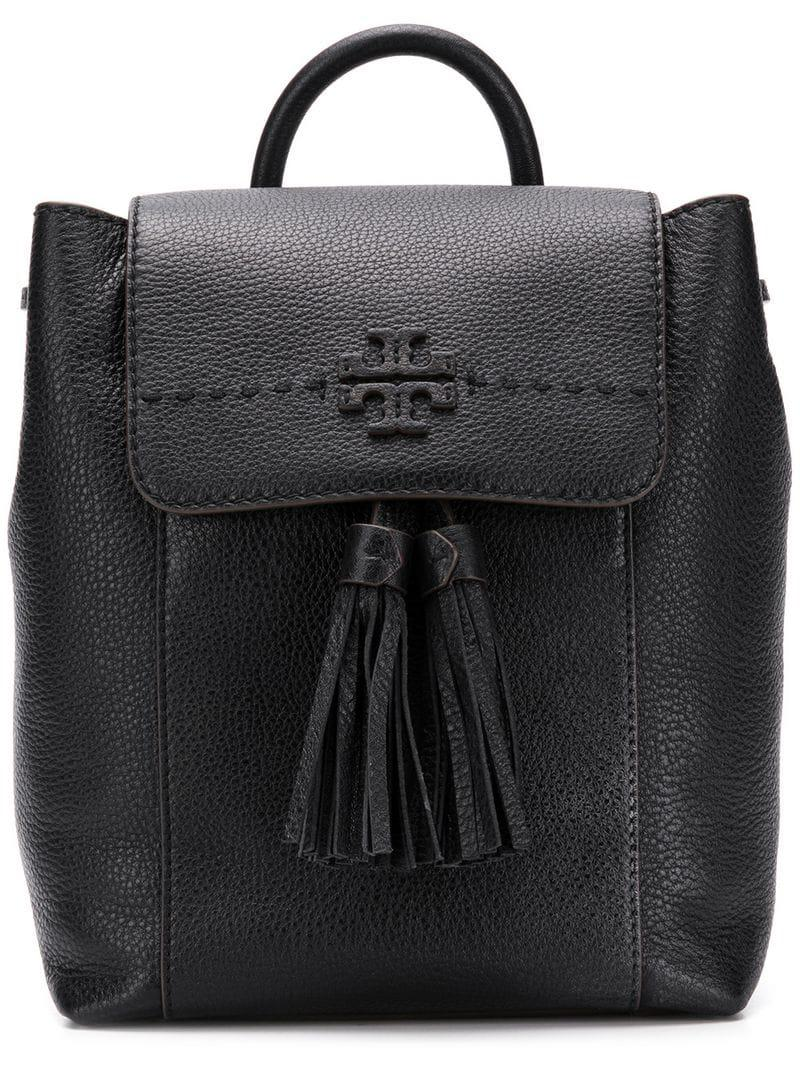 3adf1e8e1db8 Tory Burch Mcgraw Backpack in Black - Lyst