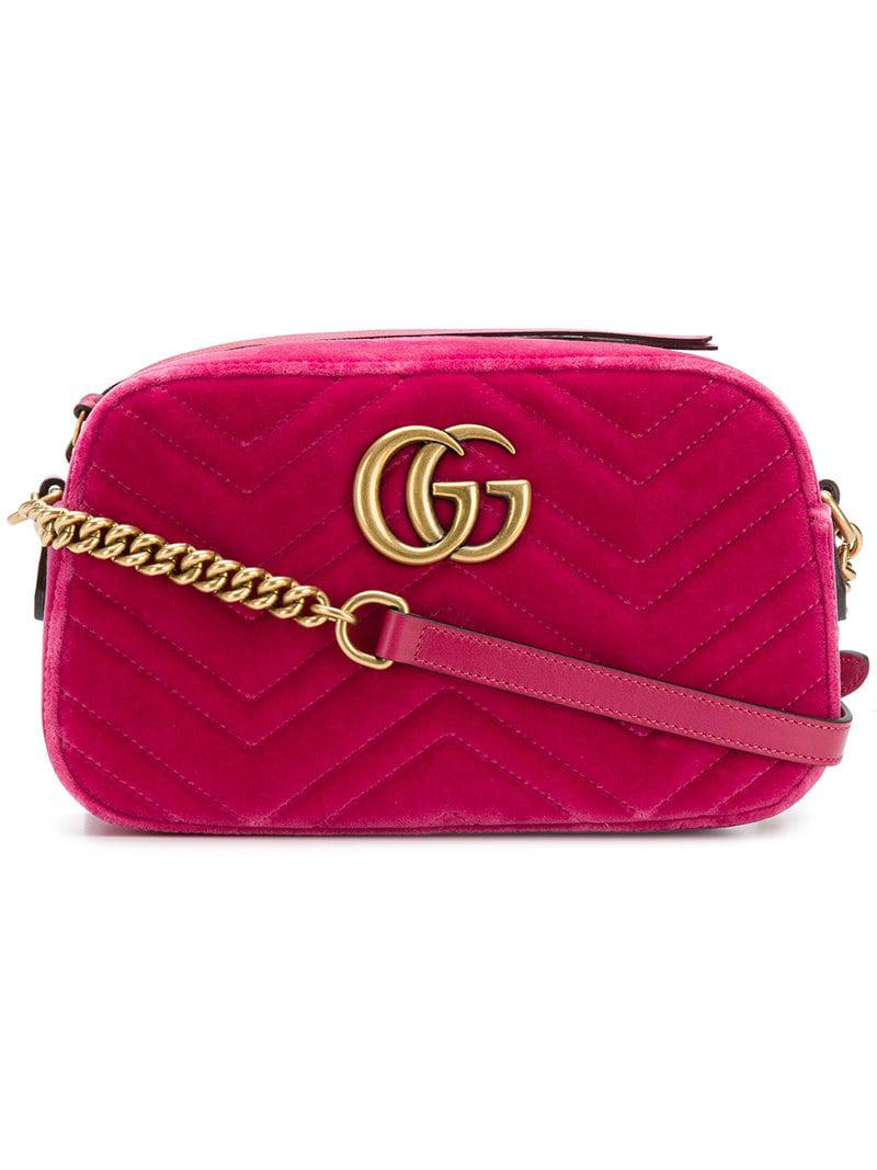 9d555ca1ea75 Gucci GG Marmont Crossbody-bag in Pink - Lyst