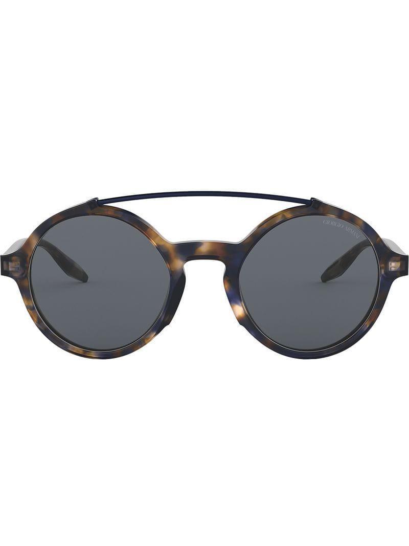 fb3d8c7689 Giorgio Armani. Gafas de sol con montura redonda de hombre de color azul