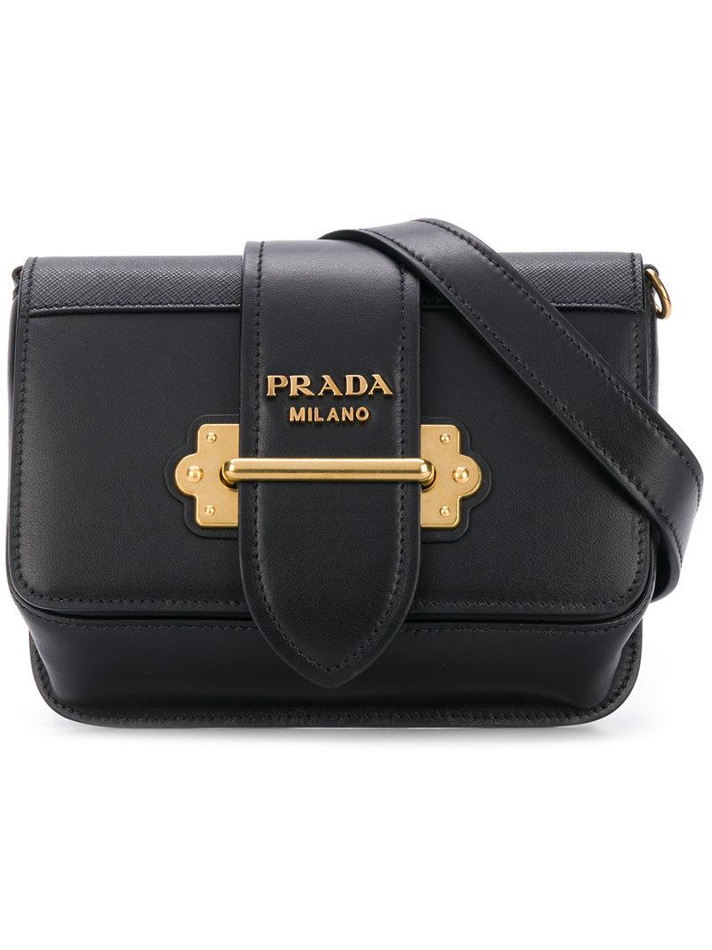 c23ccbf11b4c Lyst - Prada Classic Logo Belt Bag in Black
