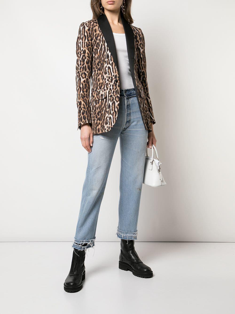 8d6127a51ca9 R13 Leopard Print Blazer in Brown - Lyst