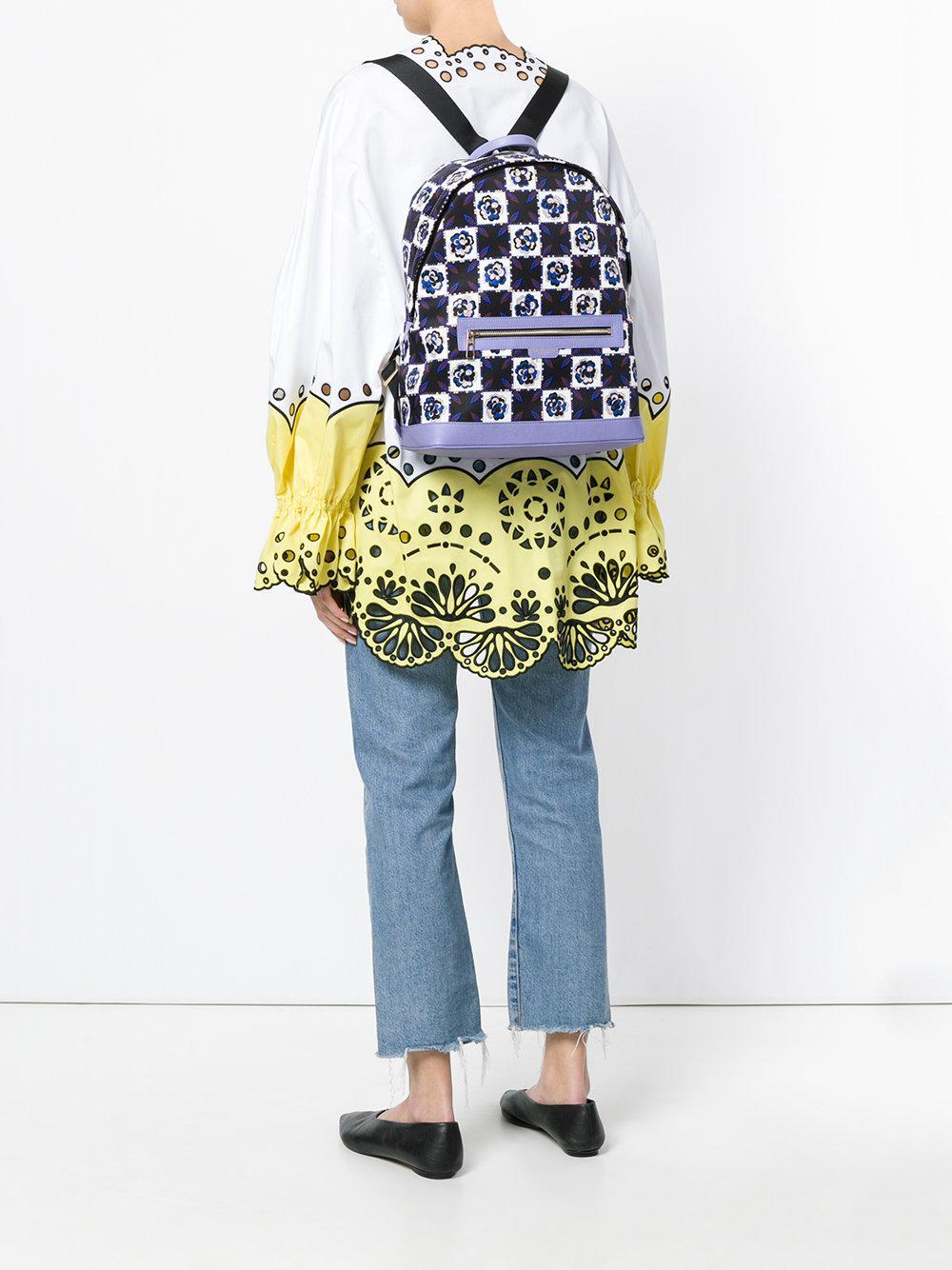 designer print backpack - Black Emilio Pucci r2YPxuM