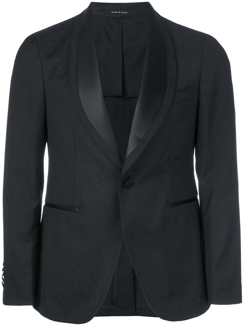 7858be8c6f2e Lyst - Tagliatore Satin Lapel Tuxedo Jacket in Blue for Men