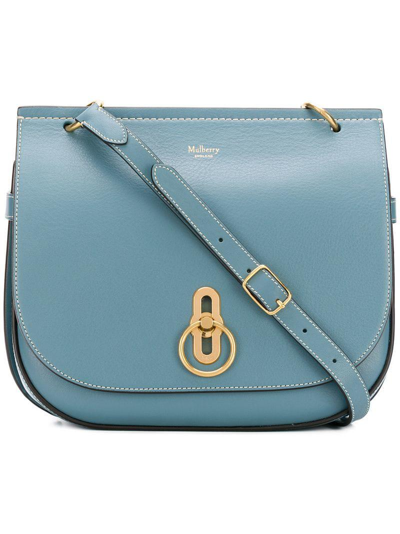 98b83649a2 Mulberry - Blue Flap Fastened Crossbody Bag - Lyst. View fullscreen