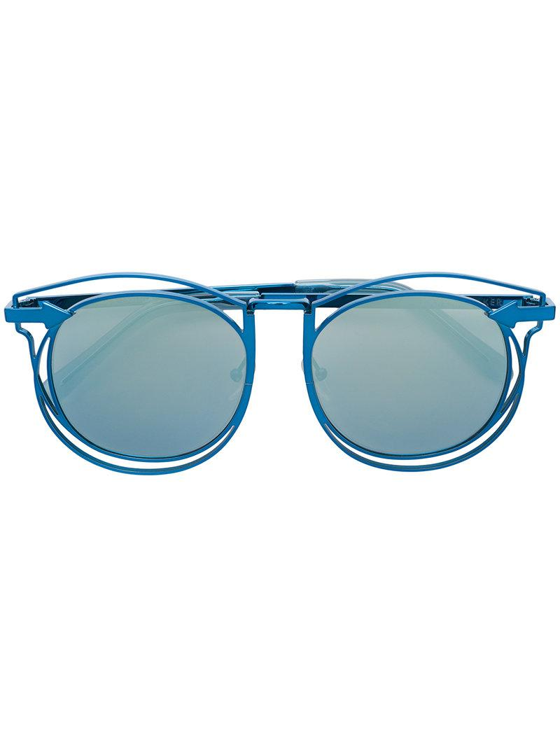 687ba83a2df2 Karen Walker Simone Sunglasses in Blue - Lyst